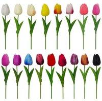 Fiori decorativi Corone Latex Tulipani Artificiale PU Flower Bouquet Real Touch Flowers per la decorazione domestica Festival Party Evento matrimonio decorativo {categoria}