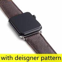 أعلى مصمم الأزياء ووتش الأشرطة للساعات سلسلة 1 2 3 4 5 6 جودة عالية الجلود طباعة نمط العصابات الذكية معصمه ديلوكس watchbands