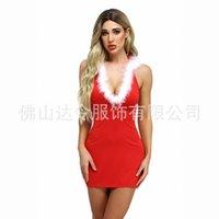 Сексуальное нижнее белье юбка женщин из двух частей пижамы с капюшоном рождественские наряды белье Трутные трусики Villus v-образным вырезом