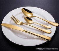 Utensilio de cocina de alta calidad Gold / Rose Gold Cutlery Set de flotware Set Cuchara Tenedor Cuchillo Cuchara de té Set de vajilla de acero inoxidable
