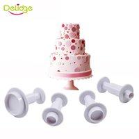 Moules de cuisson Déligue Ronde Plongeur Fondant Fondant Cutter DIY DIY Gâteau de mariage Outils de décoration Cookie Cupcake Moulding