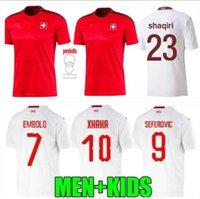 2021 سويسرا الصفحة الرئيسية Soccer Jersey 20 21 Seferovic Freuler Shaqiri Lang Embolo Behrami Swiss Red Men Football Commet