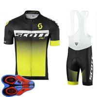 Erkek Bisiklet Forması Seti Yaz Scott Takımı Kısa Kollu Bisiklet Gömlek Önlük Şort Takım Elbise Hızlı Kuru Nefes Bisiklet Üniforma Yarış Giyim Boyutu XXS-6XL S041425