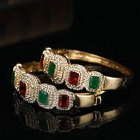 Bangle Unique Design Of Middle Eastern Women Color Artificial Diamond Bracelet, Open Buckle Alloy Wholesale Arab Jewelry