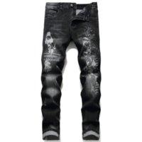 Calças de jeans frágeas magras masculinas em 5 cores para verão 2021 estilo clássico estiramento de alongamento