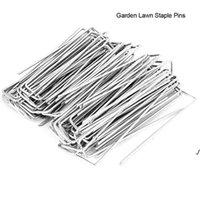 Suministros de jardín paisaje grapas de acero inoxidable U Forma de U Forma Pasas de hierba Pins Pegas de apuestas para asegurar DWD6117