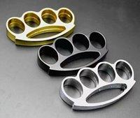 Marca de latón nudillos Chrome Steel Knuckle y equipos de protección de autodefensa se entregan la herramienta EDC al aire libre