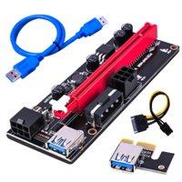 Wholesale Computer Cables & Connectors PCI-E Pcie Riser Express 1X 4x 8x 16x Extender PCI USB Risers 009S GPU Dual 6Pin Adapter Card SATA 15pin for BTC Miner