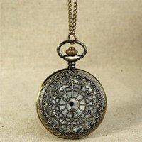 Wristwatches Fashion Antique Men Watch Vintage Bronze Tone Spider Web Design Chain Pendant Men's Clock Pocket Gift Montre Homme