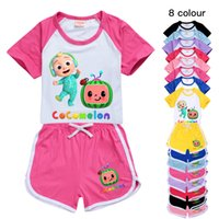 8color cartoon watermelon T - shirt set girl shorts casual s...