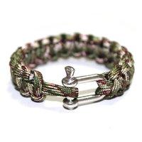 Cordons, élingues et sangles 2 pcs survival de survie corde corde paracorde bracelet en forme de corde en forme de u