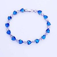 Bracelet Ocean Love Heart Shape Zircon Cristal Diamond Inlaid Fashion Femme's Bracelet