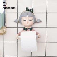 Titulaire de papier toilette ROGO en forme de résine auto-adhésive murale mignonne pour filles modernes pour les détenteurs de la maison de salle de bain