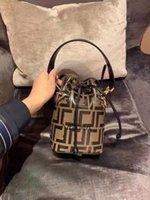 Klassische Blume FF Kordelzug Eimer Mini Handtasche Einzelner Schulter Diagonale Frauen Tasche verkaufen Mode