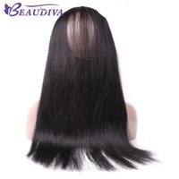 8A brésilien cheveux droits 360 dentelle bande frontale grenière vague naturelle cheveux vierge cheveux humains cheveux pleine dentelle fermeture frontale avec bébé cheveux