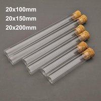 Forniture da laboratorio 5-10-20pcs 20x100mm / 20x150mm 20x200mm Clear Botomer Inspiratura in vetro addensare tubo di prova con tappi di sughero