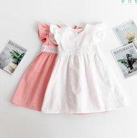 1-6T!Girls Designer Dresses Summer Fashion Princess skirt Kids Trend Breathable Lace fly sleeve Dress Child Clothing