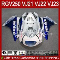OEM BODY KIT PARA SUZUKI 250CC RGV250 Blue Glossy SAPC VJ21 RGV250 RGV-250CC 88 89 Carrocería 21HC.32 RGVT-250 RGV-250 Panel RGVT RGV 250 CC 1988 1989 Kit de cares completo