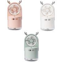 Electric Fans Portable USB Fan With Air Diffuser Cooler Mini Desk Desktop Humidifier