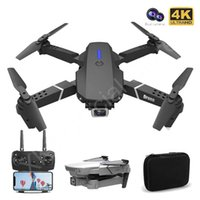 (새로운) 넓은 각도 HD 4K 1080P 이중 카메라 높이가있는 WIFI RC Foldable Quadcopter Dron 선물 장난감