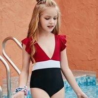 طفل ملابس الطفل الصغير طفلة المايوه بيكيني يستحم إلكتروني طباعة ليوبارد التعادل صبغ الطفل السباحة ارتداء بدلة 649 Y2