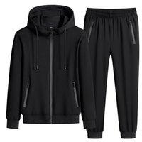 Tracksuit Men Sportswear Sets New Spring Autumn Clothing Hooded Suit Male 2 Pieces Sweatshirt + Sweatpants Big Size 7XL 8XL