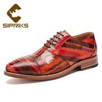 Dress Shoes Sipriks Luxury 100% Original Ostrich Men Italian Handamde Goodyear Welted Oxfords Fashion Male Wedding Suit 45