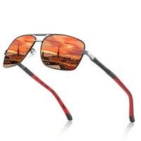 Sunglasses 2021 Fashion Pilot Polarized Men Alloy Frame HD Lense Sports Eyewear Driving Biding Sun Protection Glasses UV400