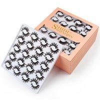 Top Seller Maquillage 20Pairs / Set réutilisable Faux Cils 20mm Faux Faux 3D Mink Cils Naturel Épais Épais De Grand Beye Lashes Extension Des outils moelleux