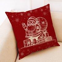 Pillow Case Christmas Pattern Sofa Car Throw Cushion Cover Home Decor Navidad Ofertas Addobbi Natalizi