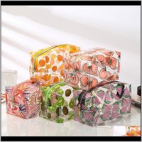 Waterproof Fruit Transparent Cosmetic Cute Bags Storage Pouch Makeup Organizer Appd Clear Case Toiletry Pvc Zipper Travel Ezuse Pakyc