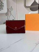 designer button women New Varnish leather short wallets female fashion zero purse European style lady casual clutchs with origianl box 41938xwl