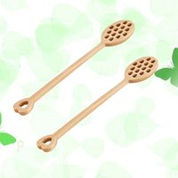 Spoons 2pcs Wooden Honey Stick Dipper Spoon Coffee Stiring Mixing Tableware For Wedding Or Party Favors