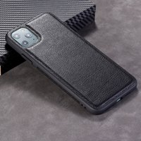 Sadelik Iş Tarzı Deri Cep Telefonu Kılıfları iPhone 12 11 Pro Max X XR iPhone 6 7 8 Artı SE 2020 Serin Telefon Kılıfı