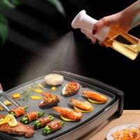 2021 new kitchen glass spray bottle barbecue olive oil bottle