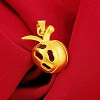 Jóias de vácuo de latão imitação de ouro ornamento ouro véspera de ouro véspera pingente de maçã vietnã placer ouro aluvial pingente feminino