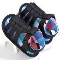 الصيف الطفل لينة الوحيد الرضع الأولاد قماش أحذية عدم الانزلاق الأحذية الأولى مشوا 0-18 أشهر سرير طفل مضاد للانزلاق الصنادل