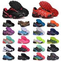 Salomon Speed Cross 3 CS أحذية Authen في الهواء الطلق للرجال والنساء   كلاسيك كل أسود أبيض أخضر أحمر وردي أزرق أصفر    أحذية رياضية للرجال والنساء المدربين المشي الركض  أحذية
