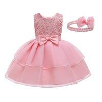Девушка новорожденного младенца хлопчатобумажные малыши платье кружева пегианные вечеринки платья для девочек крещений платья девочка одежда 1027