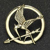 Jogos de fome Brooch Pin Bird Eagle arrow Badge Vintage Moda Animal Jogar Jóias Para Homens Mulheres Crianças Inteira