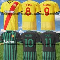 RC Lens Fofana Soccer Jerseys 2021 22 Ganago Sotoca Kakuta Maillots de Foot Clauss Medina Banza Doucoure Farinez Kit de camisa de fútbol