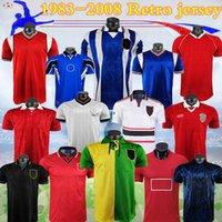 1983-2008 Manchester Retro Soccer Jersey Nistelrooy Giggs Scholes Beckham Ronaldo Rooney Cantona United Solskjaer Shirt 83 92 94 96 98 08