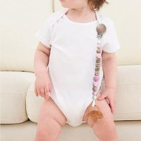 Pacifiers# Wood Chew Beads Pacifier Clips Infant Soother Chains Baby Nipple Chain Beech Dummy Holder Teething Toy