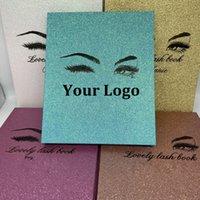 도매 속눈썹 포장 속눈썹 도서 상자 당신의 자신의 브랜드 맞춤을 만드십시오