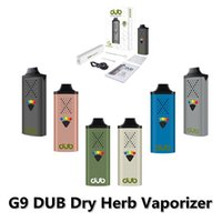 DUB Dry Herb Vaporizer starter Kit G9 vaping device Vape pens E-cigarette Kits Battery 1100mah Type-C USB Cable Hapticfeedback with Packing Tool Gift box