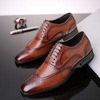 Dress Shoes Luxury Formal Men Big Size 48 Ufficiale Sociale Maschio di Alta Qualità Elegante Oxfords Giallo Brown Black Black