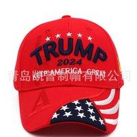 2024 Трамп Президентские выборы Президентские выборы Cap Cap Trump Hat Бейсбольная кепка Регулируемая скорость отскок хлопчатобумажные Спортивные Cap DHF5983 918 R2
