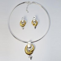 Earrings & Necklace TSROUND High Quality Choker Pendant Jewelry Set 2021 Dubai Italy African Fashion Design