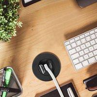 5 CM Hole Hole w biurku Montaż 3 Porty Hub 2.0 do laptopa PC Computer 97QB Kable Złącza