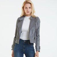 Vestes Femmes Lanmrem 2021 Automne Hiver Solide Color Vapel Short Pu Jacket Streetwear Slim était mince manteau marée femme PF739